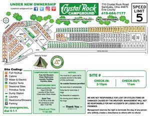Crystal Rock Campground Site Map